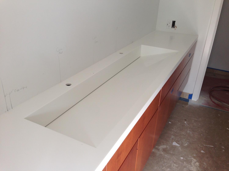 Exceptional Custom Corian Sink