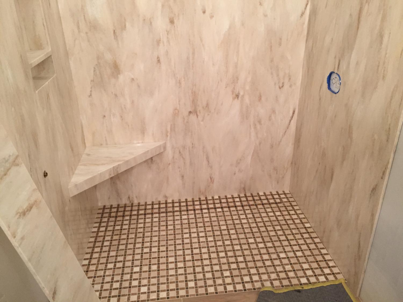 Corian Shower. Corian Shower Bench. Corian Shower Base ...